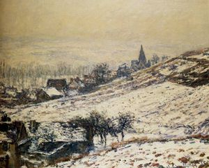 Claude Monet - invierno en Giverny