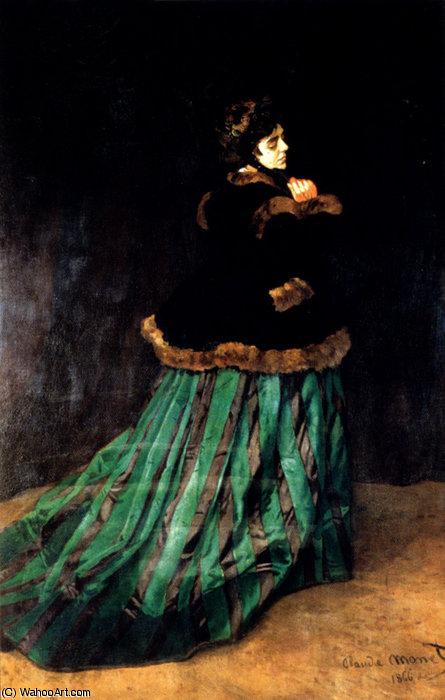 Claude monet mujer con vestido verde