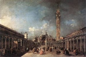 Francesco Lazzaro Guardi - Plaza di san marcos
