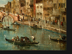 Francesco Lazzaro Guardi - Ver en el canal de cannaregio