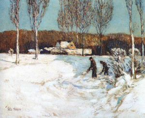 Frederick Childe Hassam - nieve palear (New England)