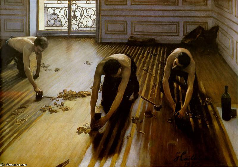 strippers piso de Gustave Caillebotte (1848-1894, France)