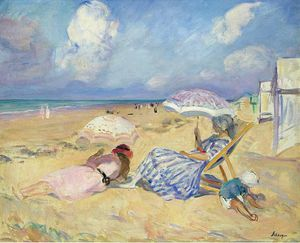 Henri Lebasque - Uno la Playa