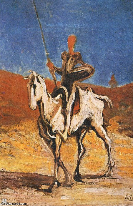 ma Daumier Don Quichotte de Honoré Daumier (1808-1879, France)