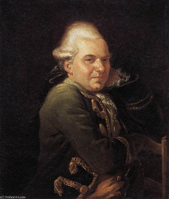Retrato de François Buron de Jacques Louis David (1748-1800, France)