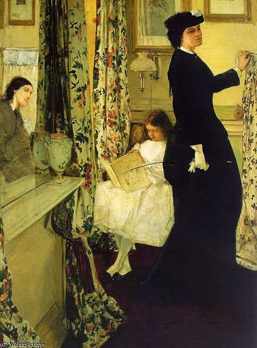 armonía in verde y rose el  Música  habitación  de James Abbott Mcneill Whistler (1834-1903, United States)