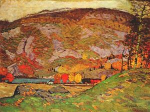 James Edward Hervey Macdonald - hilllside laurentian)