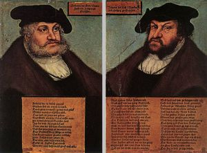 Lucas Cranach The Elder - Retratos de johann yo y Frederick III VOL