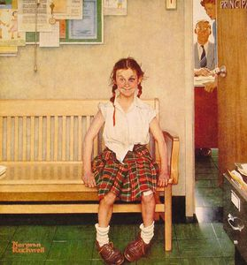 Norman Rockwell - chica con negro  ojo