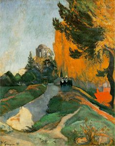 Paul Gauguin - Les Alyscamps, Arles - -