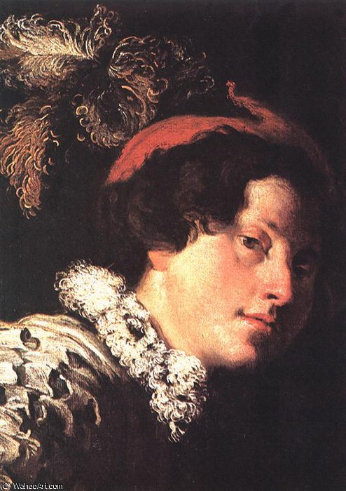 David ( detalle ) de Domenico Feti (Domenico Fetti) (1589-1623, Italy)