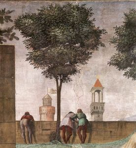 Domenico Ghirlandaio - Pared 2.Right - Visitación (detalle) 4