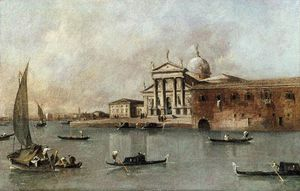 Francesco Lazzaro Guardi - vistas la iglesia de san giorgio Mayor Visto desde el Giudecca