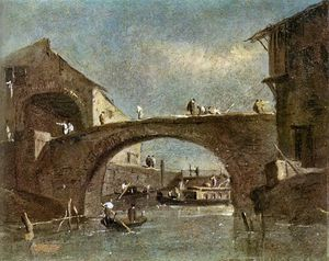 Francesco Lazzaro Guardi - Puente Dolo