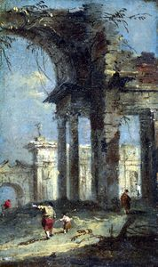 Francesco Lazzaro Guardi - Caprice Ver con Ruinas