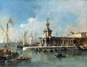Francesco Lazzaro Guardi - la punta de la aduana