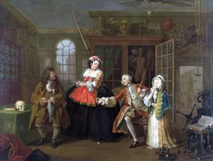 William Hogarth - Matrimonio A-la-Mode - 3, La Inspección