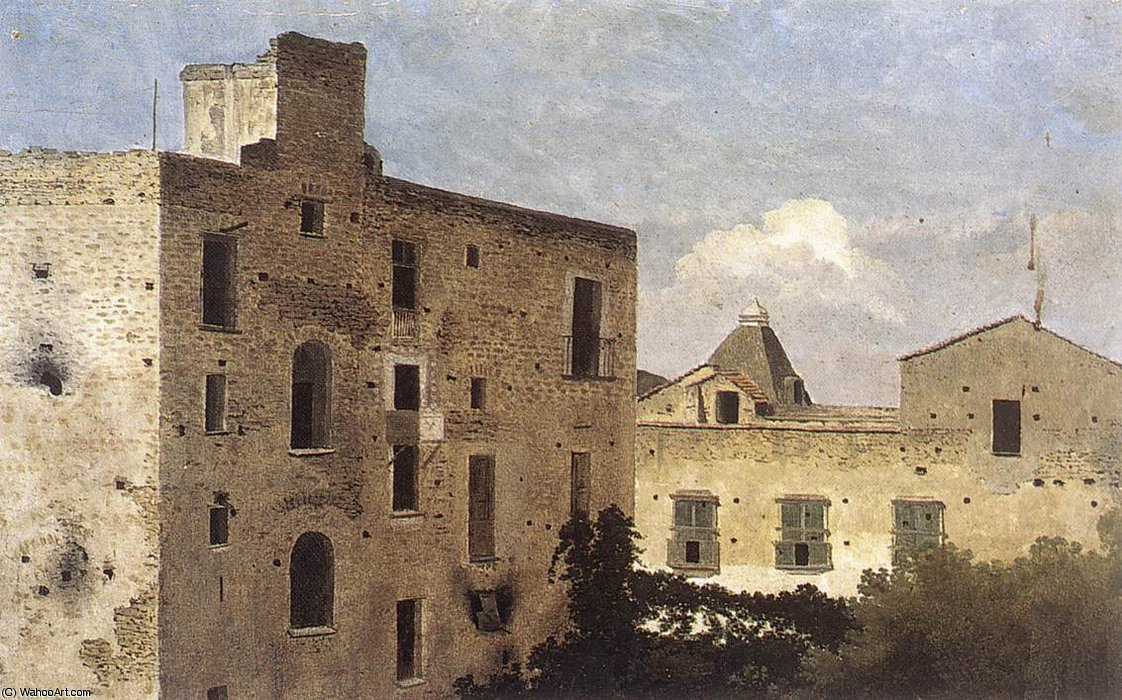 casas en Nápoles  de Thomas Jones (1742-1803, United Kingdom)