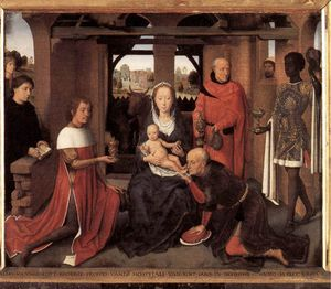 Hans Memling - media - Tríptico de Jan Floreins (panel central)