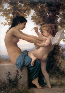 William Adolphe Bouguereau - Jeune fille sí contre demandada lamour