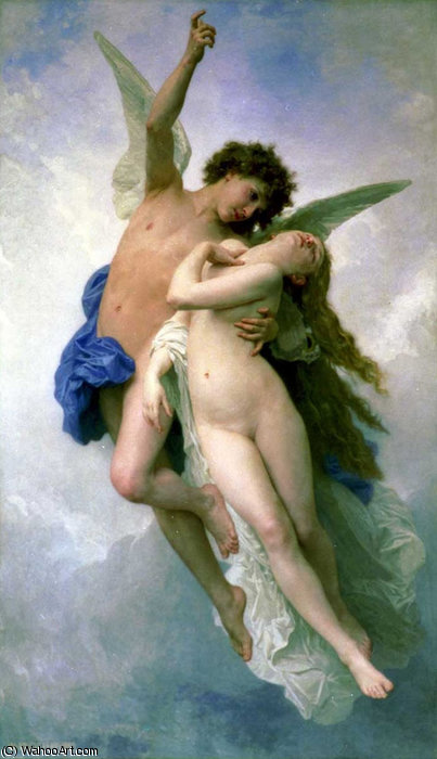 Psique et lamour de William Adolphe Bouguereau (1825-1905, France)