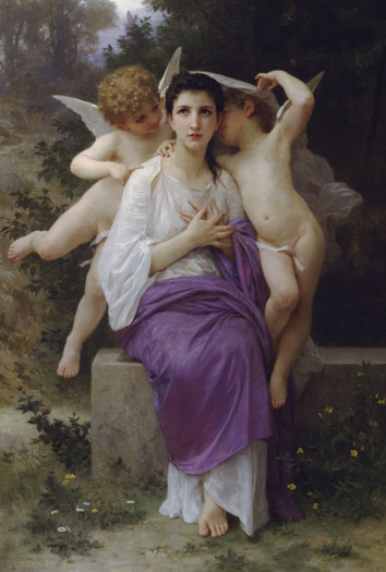 corazones despertar  de William Adolphe Bouguereau (1825-1905, France)