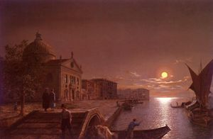 Henry Pether - Moonlight en Venecia