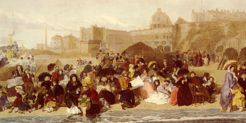 La vida en las arenas de la playa de Ramsgate de William Powell Frith (1819-1909, United Kingdom)