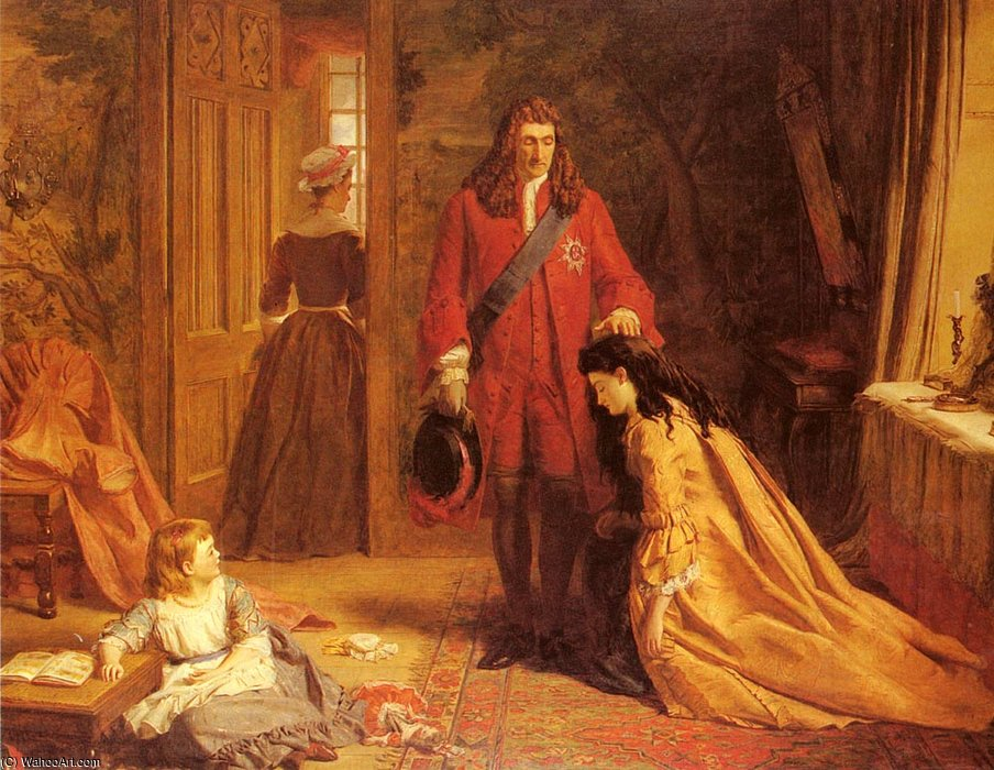 Un incidente en el vida de maría montague wortley de William Powell Frith (1819-1909, United Kingdom)