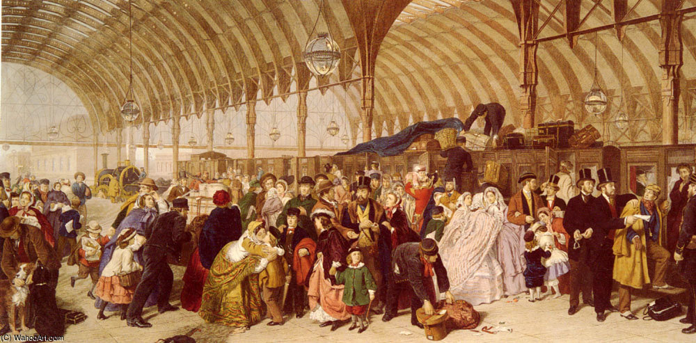 La estación de tren de William Powell Frith (1819-1909, United Kingdom)