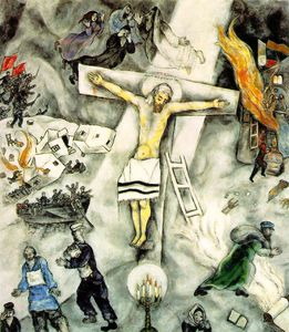 Marc Chagall - Blanco crucifixión , el arte Instituto de Chicag