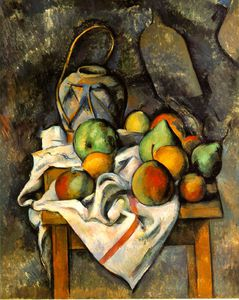 Paul Cezanne - Le jarrón paillé , do . 1895 , barnes base