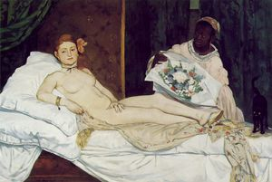 Edouard Manet - Olympia , Museo d'Orsay , París