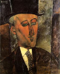 Amedeo Modigliani - Retrato de Max Jacob, Óleo sobre canva