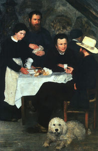 Pierre-Auguste Renoir - Madre Anthony-s inn at marlotte , óleo sobre lienzo