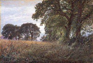 William Trost Richards - Tennysons Granja , Farmington , isla de wight