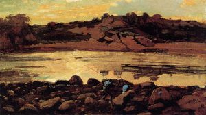 Winslow Homer - Ensenada de la langosta, manchester, Massachusetts