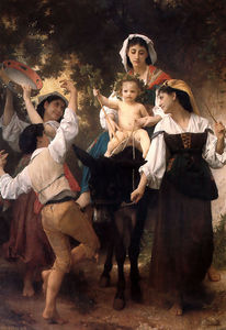 William Adolphe Bouguereau - burro conducir