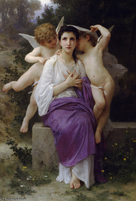 El heart's despertar de William Adolphe Bouguereau (1825-1905, France)