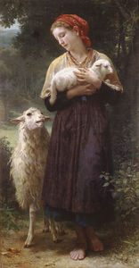 William Adolphe Bouguereau - el recién nacido cordero