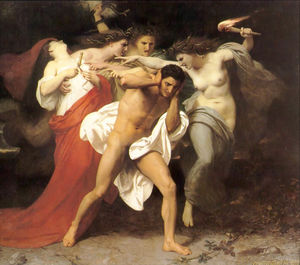 William Adolphe Bouguereau - El remordimiento de Orestes