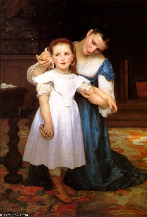 La concha marina de William Adolphe Bouguereau (1825-1905, France) | Copia De La Pintura | WahooArt.com