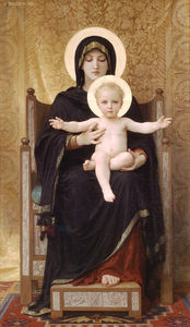 William Adolphe Bouguereau - el sentado virgen