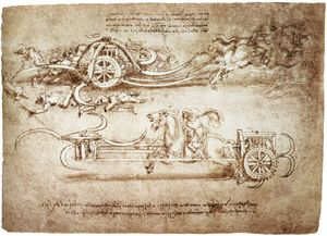 Leonardo Da Vinci - engineering-Assault carro enestado guadañas