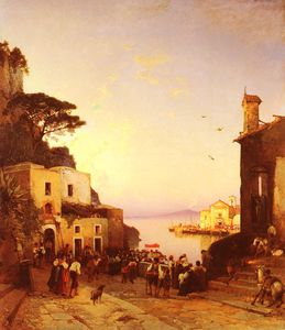 Hermann David Salomon Corrodi - Processione un sorrento