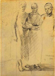 Max Liebermann - tres mujeres