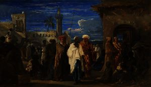 William James Muller - Mercado de esclavos el cairo