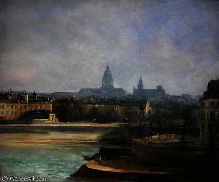 Ile de la Cite de Antoine Vollon (1833-1900, France)