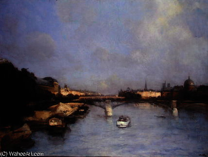Río Sena  de Antoine Vollon (1833-1900, France)