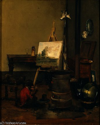 El painter's mono de Antoine Vollon (1833-1900, France)